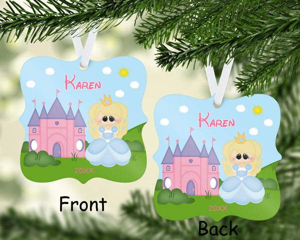 Princess Blue Christmas Ornament
