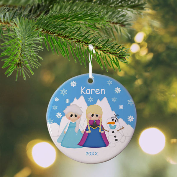 Princess Frozen Christmas Ornament