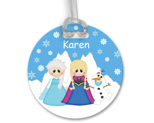 Princess Frozen Bag Tag