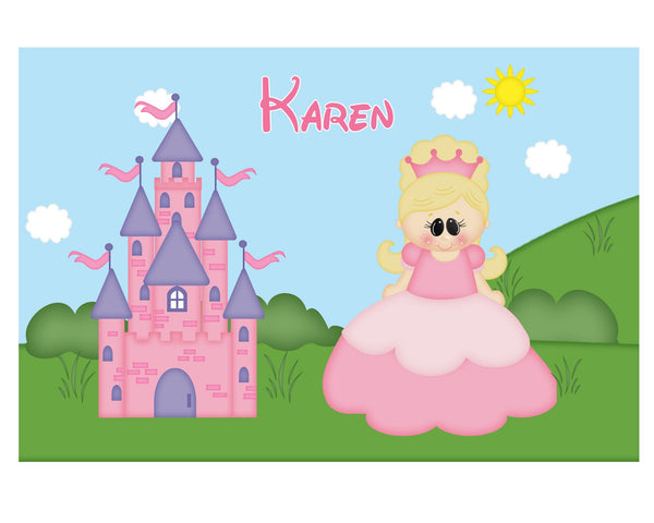 Princess Pink Kids Placemat