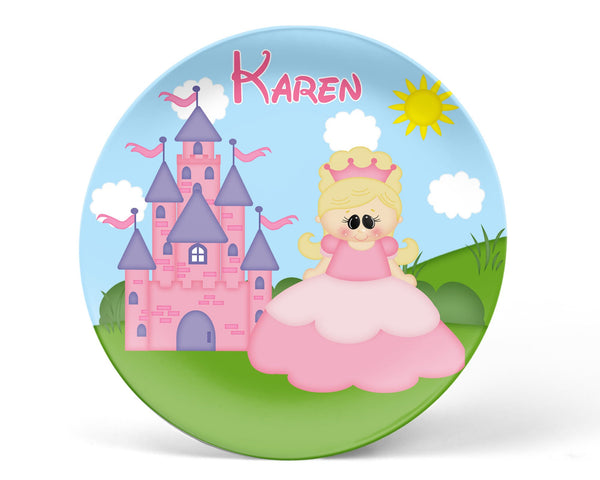 Princess Pink Kids Plate