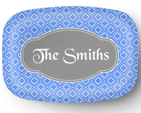 Quadrafoil Personalized Platter