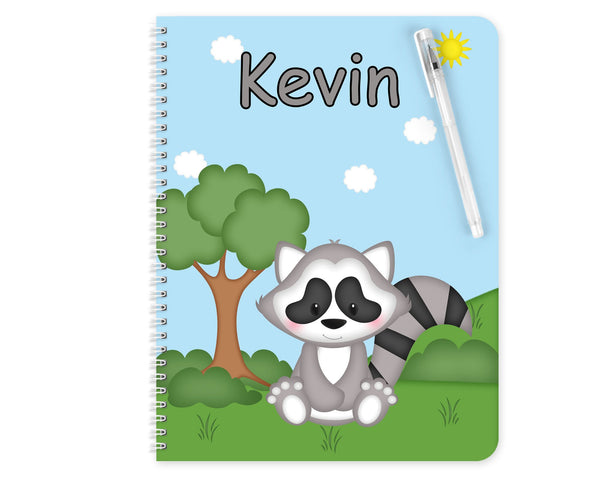 Cute Woodland Raccoon Kids Pencil Case
