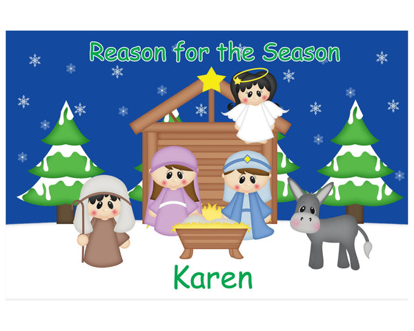 Christmas Nativity Kids Placemat