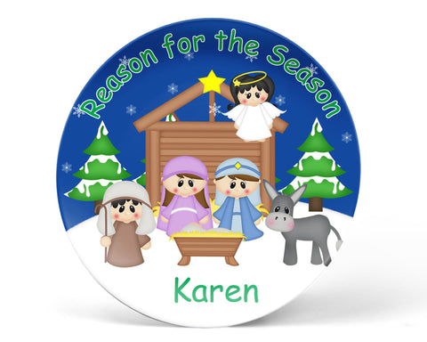 Christmas Nativity Kids Plate