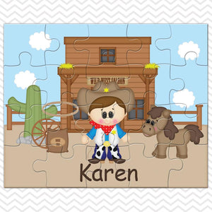 Cowboy Kids Personalized Puzzle