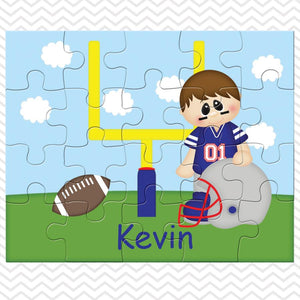Football Boy Kids Personalized Puzzle