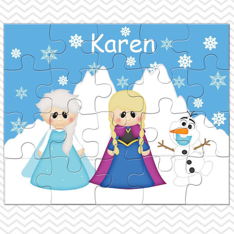 Princess Frozen Kids Personalized Puzzle