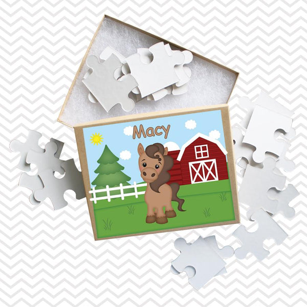 On the Farm Horse Kids Puzzle