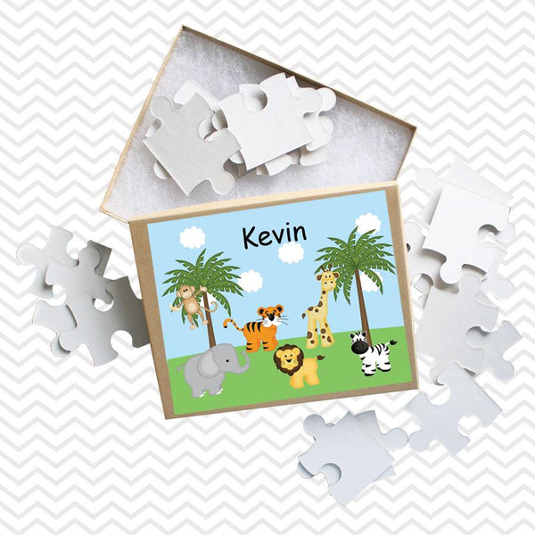 In the Jungle Kids Personalized Puzzle