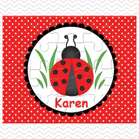 Ladybug Red Kids Personalized Puzzle