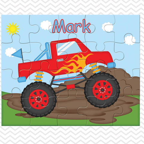 Monster Truck Kids Personalized Puzzle