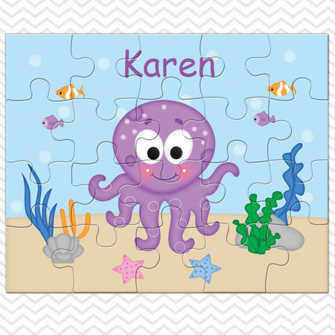 Octopus Kids Personalized Puzzle