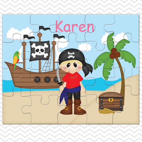Pirate Boy Kids Personalized Puzzle