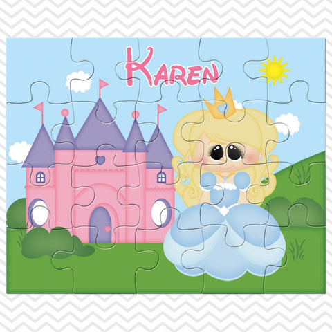 Princess Blue Kids Personalized Puzzle
