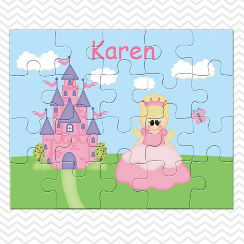 Princess Pink Kids Personalized Puzzle