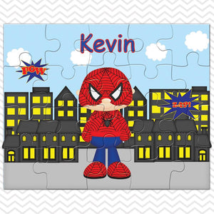 Spider-man Superhero Kids Personalized Puzzle