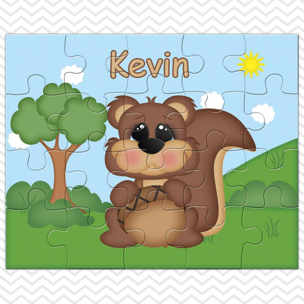 Cute Woodland Squirrel Kids Puzzle