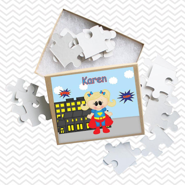 Supergirl Superhero Kids Personalized Puzzle