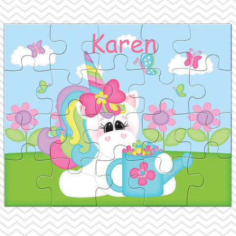Rainbow Unicorn Kids Personalized Puzzle
