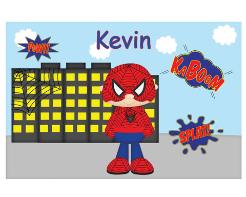 Spider-man Superhero Kids Placemat