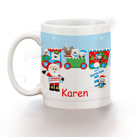 Christmas Santa Train Kids Mug