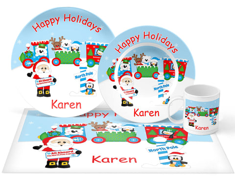 Christmas Santa Train Kids Placemat