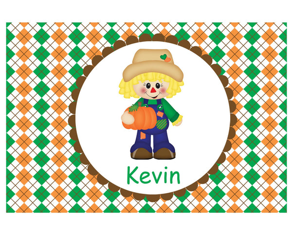 Scarecrow Boy Kids Placemat
