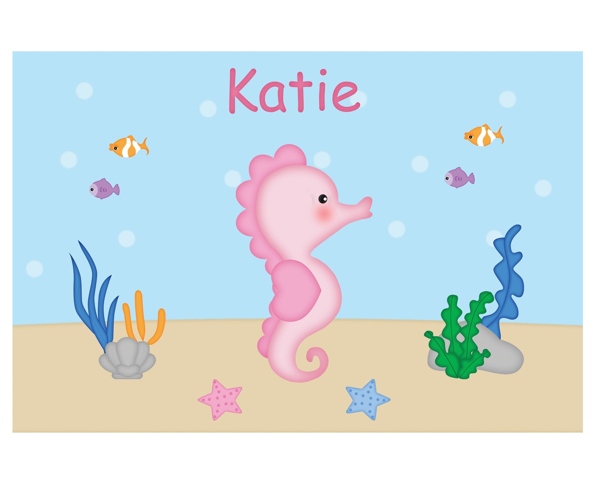 Seahorse Kids Placemat