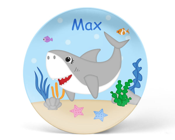 Shark Attach Kids Plate
