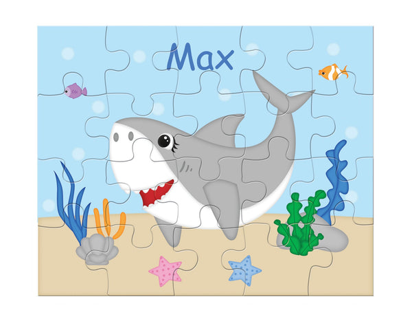 Shark Attach Kids Personalized Puzzle