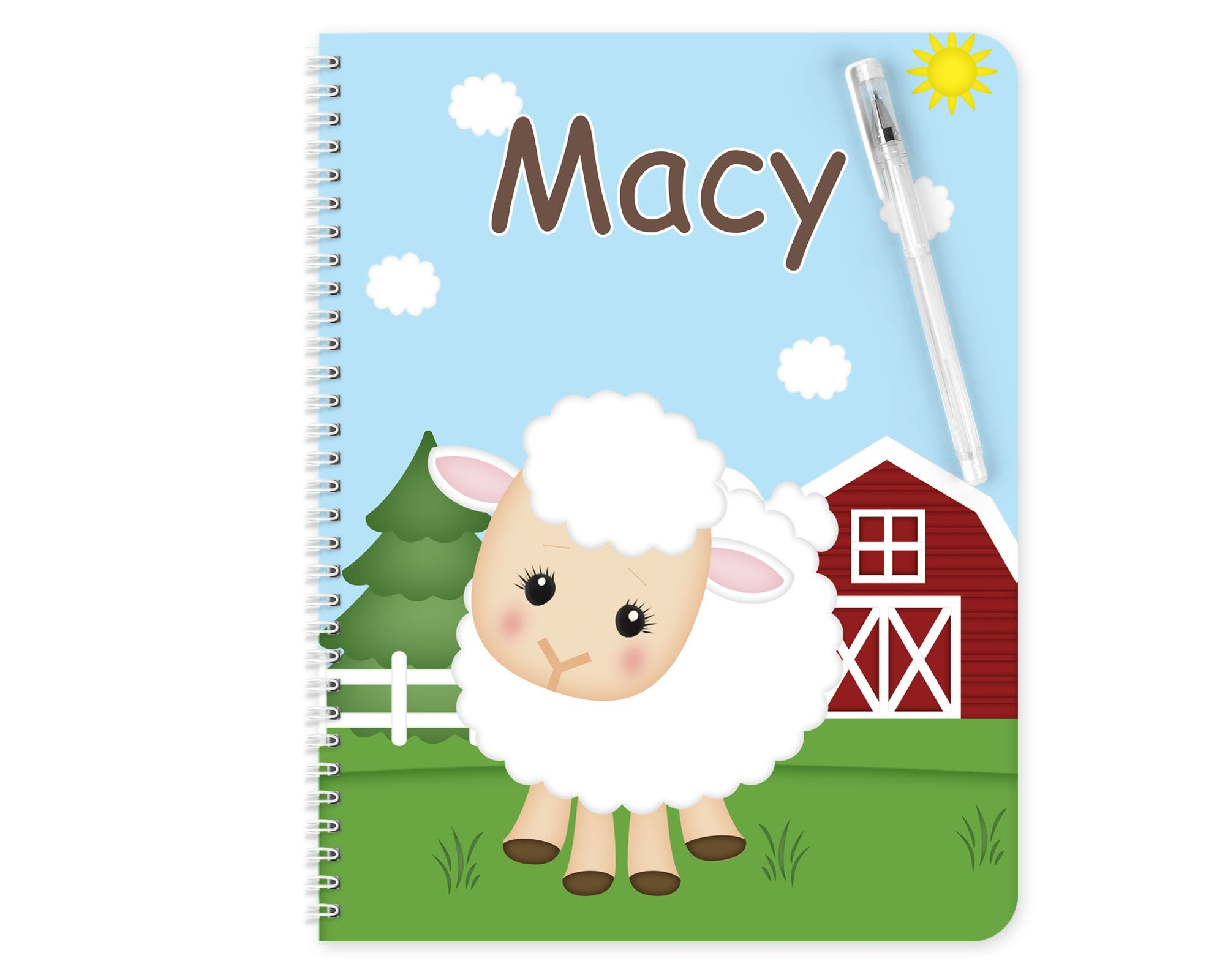 On the Farm Sheep Kids Notebook