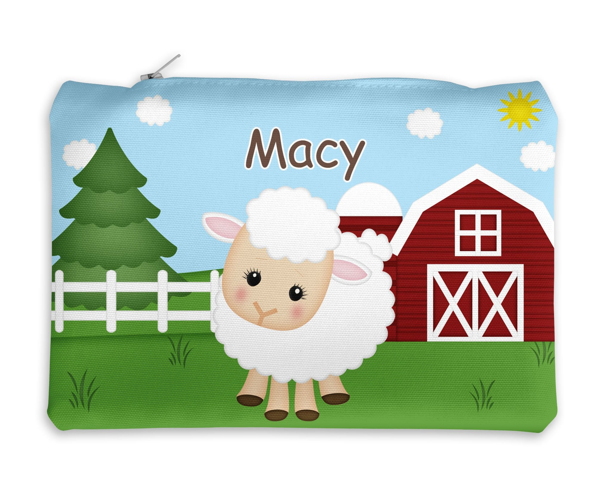 On the Farm Sheep Kids Pencil Case