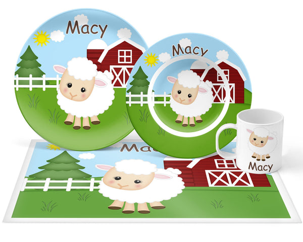 On the Farm Sheep Kids Placemat