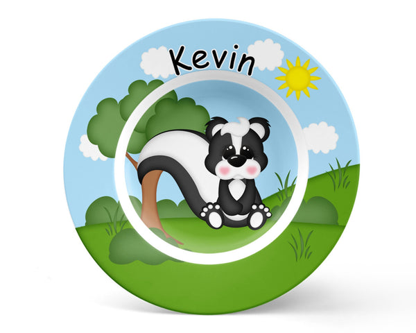 Cute Woodland Skunk Kids Placemat