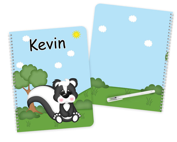 Cute Woodland Skunk Kids Notebook