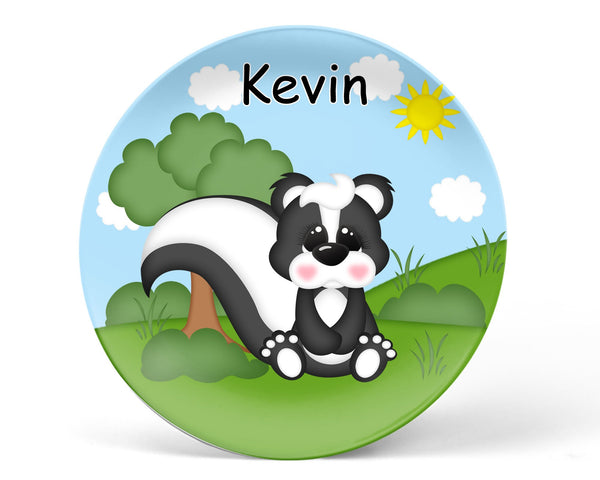 Cute Woodland Skunk Kids Plate