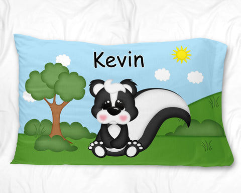 Cute Woodland Skunk Pillow Case