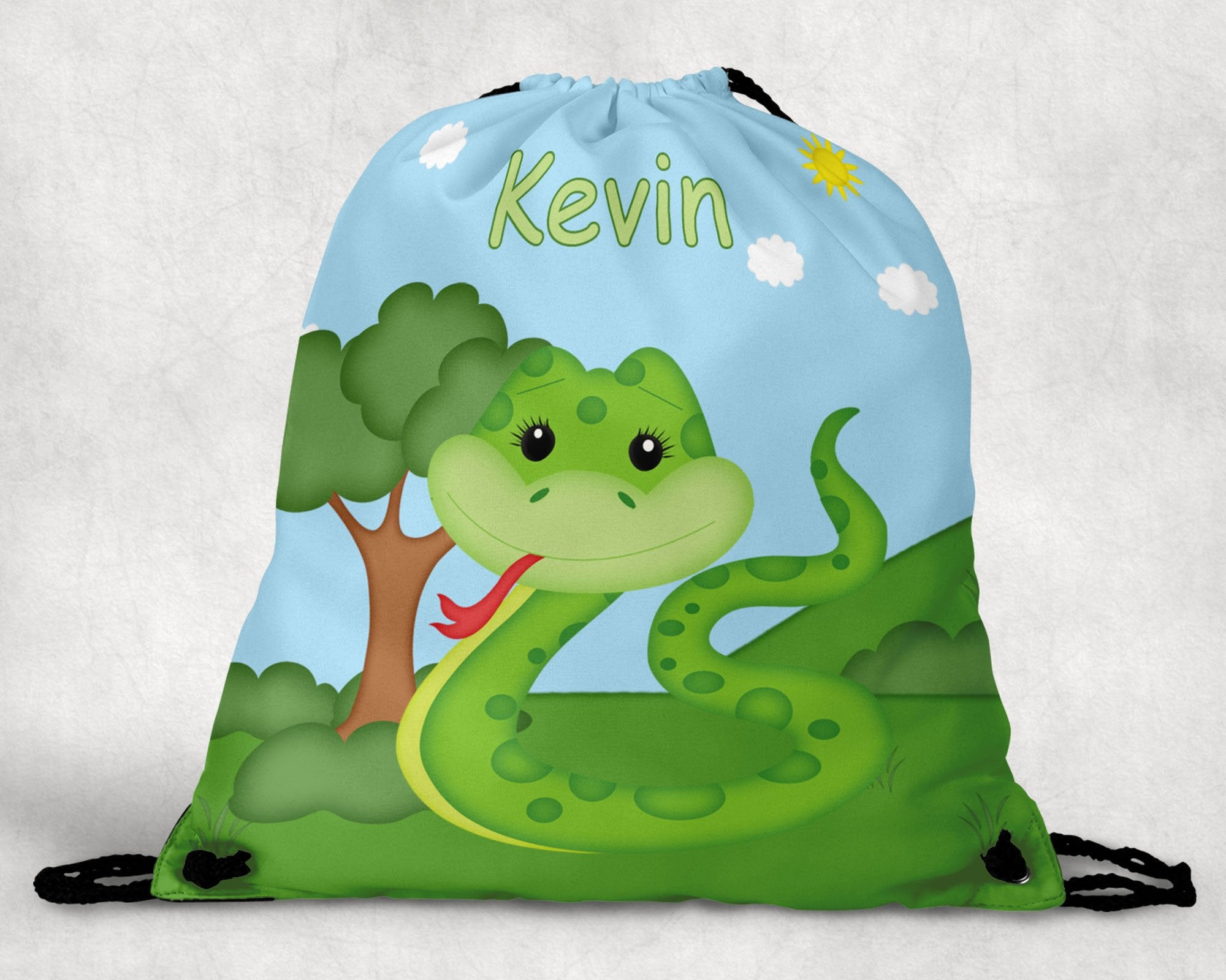 Snake Personalized Drawstring Bag