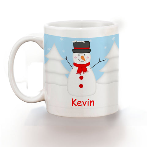 Christmas Snowman Red Kids Mug