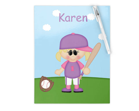 Softball Girl Kids Folder
