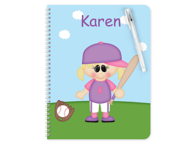 Softball Girl Kids Notebook