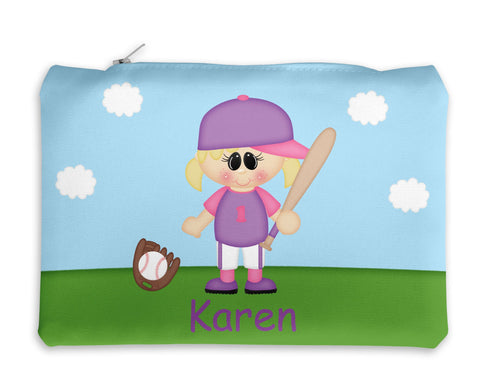 Softball Girl Kids Pencil Case