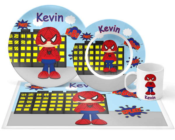Spider-man Super Hero Kids Plate
