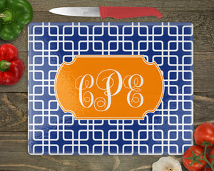 Squares Personalized Cutting Board