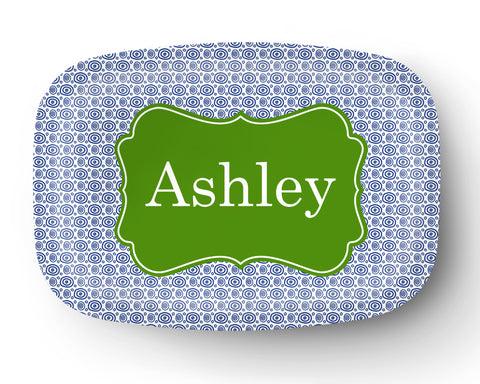 Squiggly Circles Personalized Platter