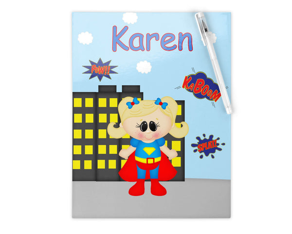 Supergirl Superhero Kids Notebook