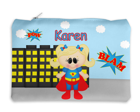 Supergirl Superhero Kids Pencil Case