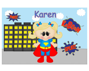 Supergirl Superhero Kids Placemat