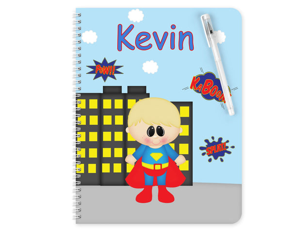 Superman Superhero Kids Notebook